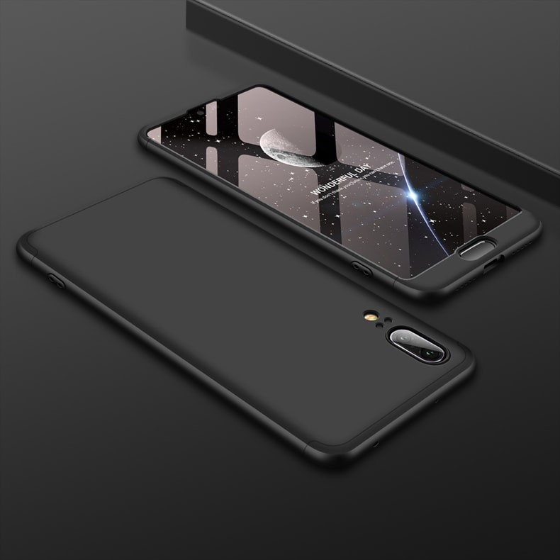 Coque 360 Huawei P20 Noir.