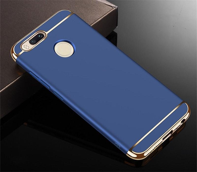 Coque Xiaomi MI A1 Rigide Chromée Bleu.