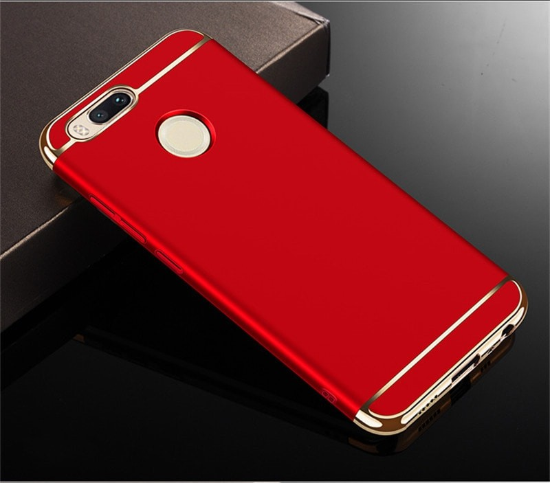Coque Xiaomi MI A1 Rigide Chromée Rouge.