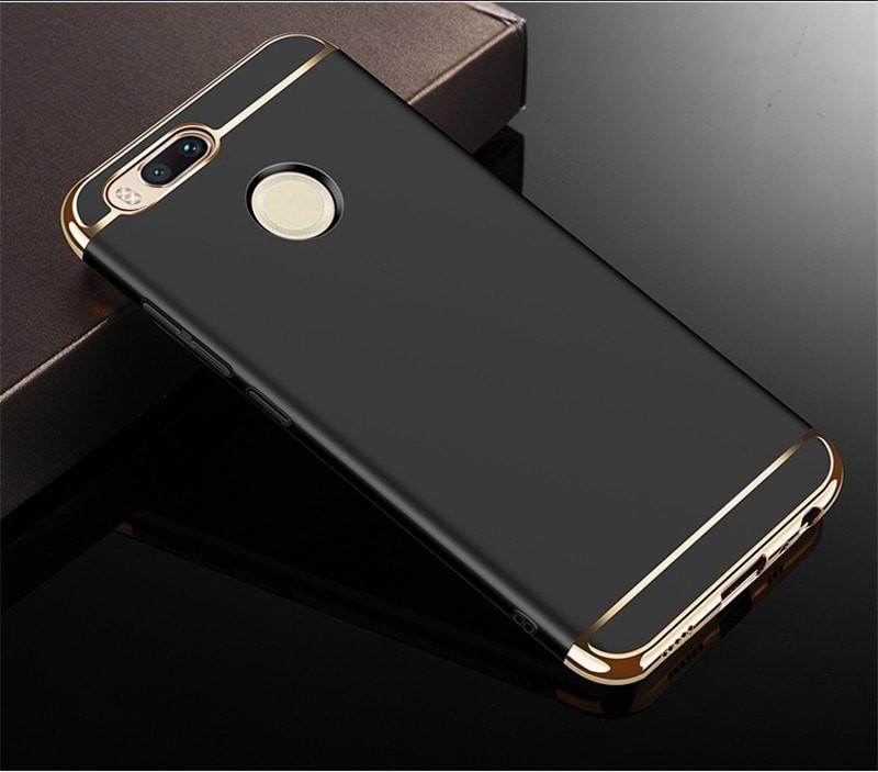 Coque Xiaomi MI A1 Rigide Chromée Noir.