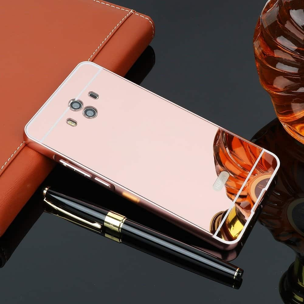 Bumper Huawei Mate 10 Aluminium Mirroir Or Rose