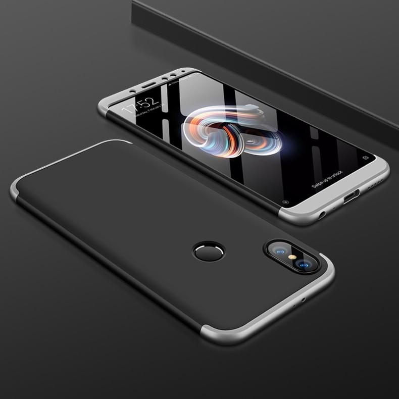 Coque 360 Redmi Note 5 Noir et Gris.