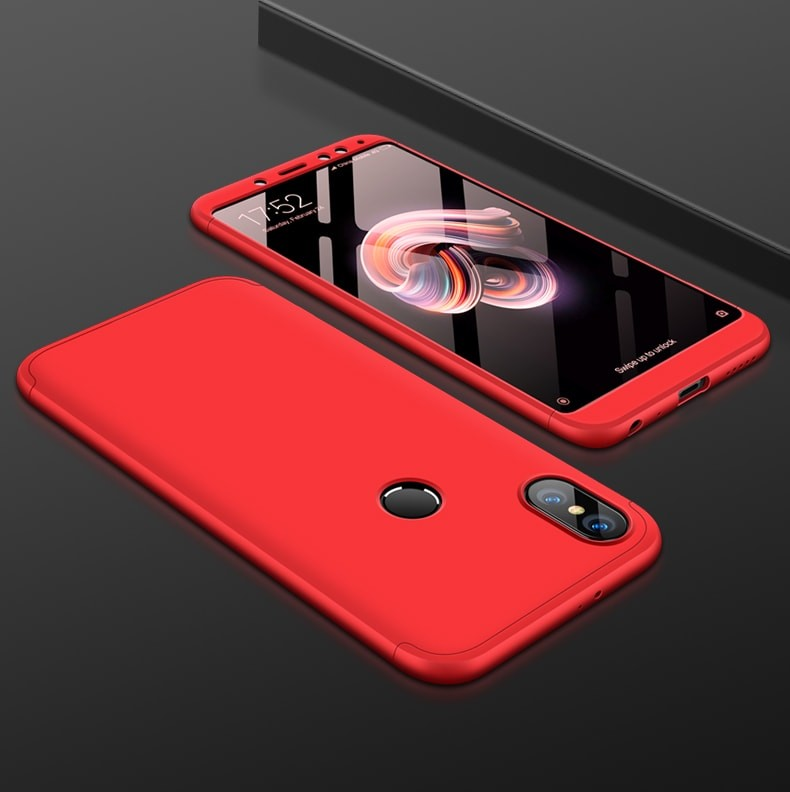 Coque 360 Redmi Note 5 Rouge.