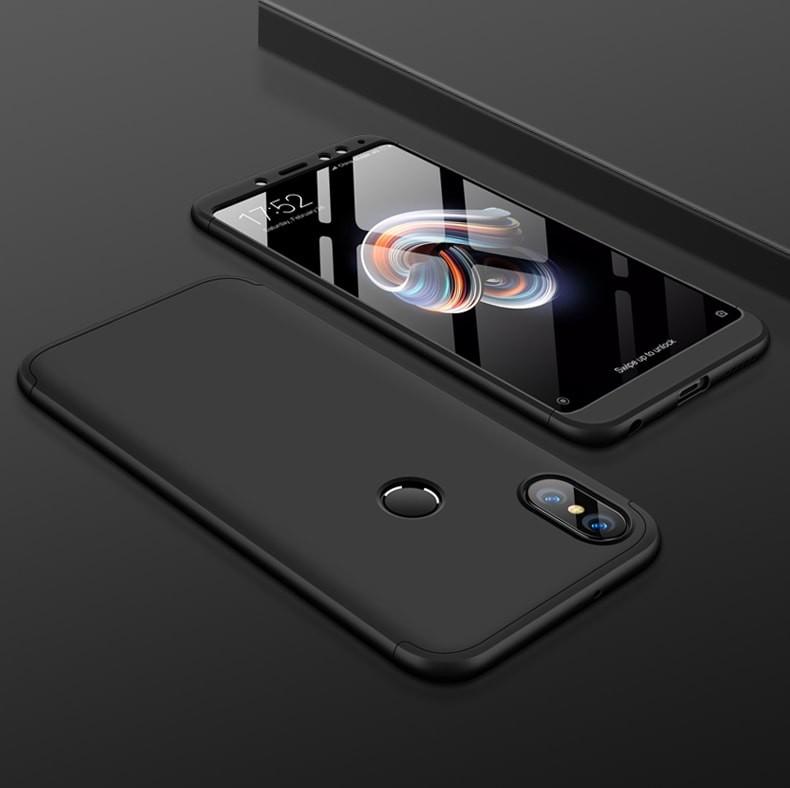 Coque 360 Redmi Note 5 Noir.