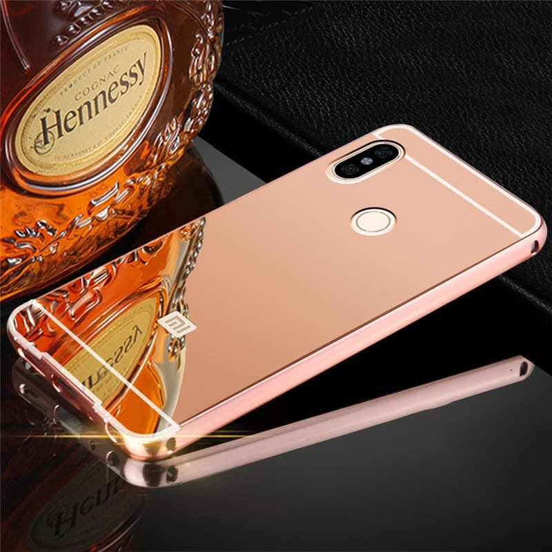Bumper Xiaomi Redmi Note 5 Pro Aluminium Mirroir Or Rose