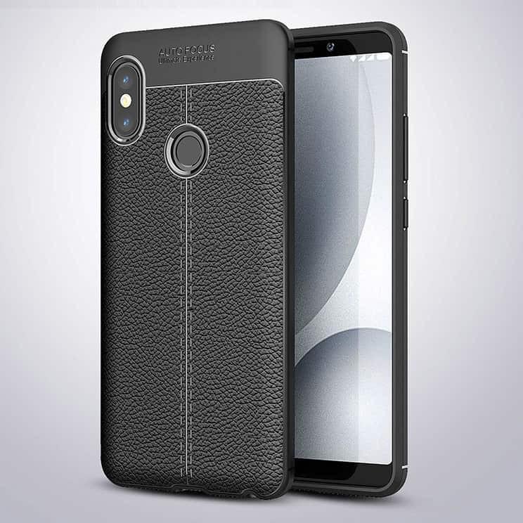 Coque Silicone Xiaomi MI 6X Cuir 3D noir