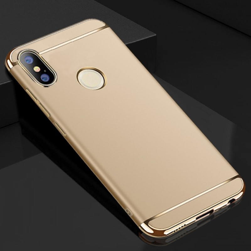 Coque Xiaomi Redmi Note 5 Rigide Chromée Or.