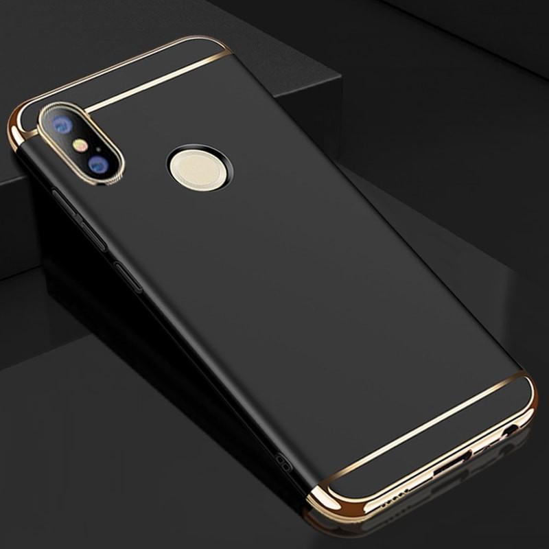 Coque Xiaomi Redmi Note 5 Rigide Chromée Noir.