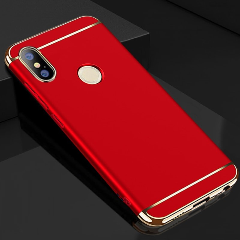 Coque Xiaomi Redmi Note 5 Rigide Chromée Rouge.