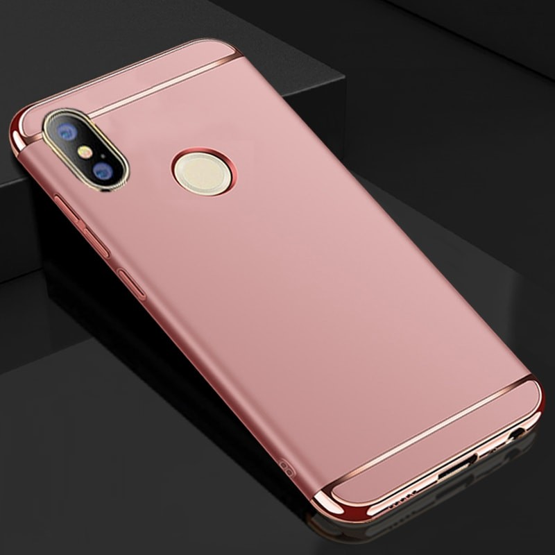 Coque Xiaomi Redmi Note 5 Rigide Chromée Rose.