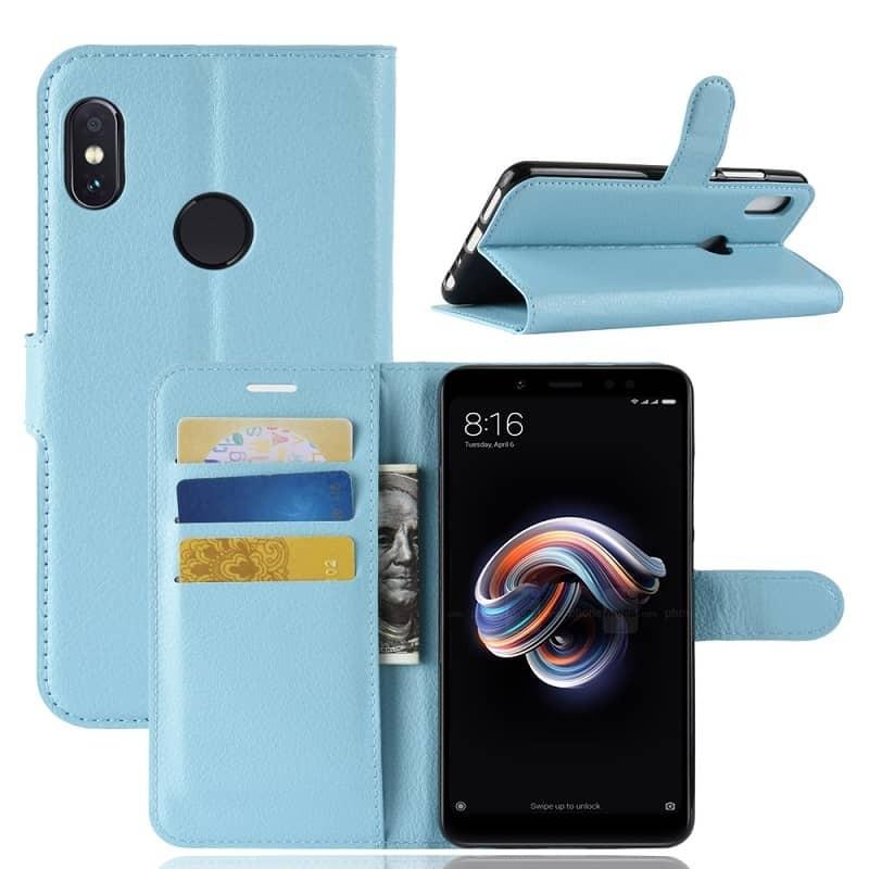 Etuis Portefeuille Xiaomi MI 6X Simili Cuir Bleu