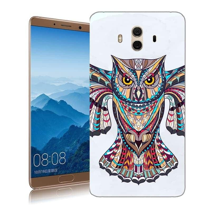 Coque Huawei Mate 10 Silicone Chouette