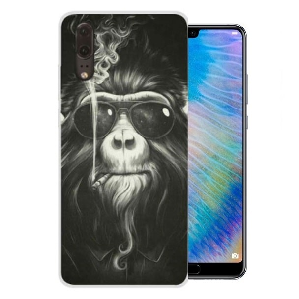 Coque Silicone Huawei P20 Singes