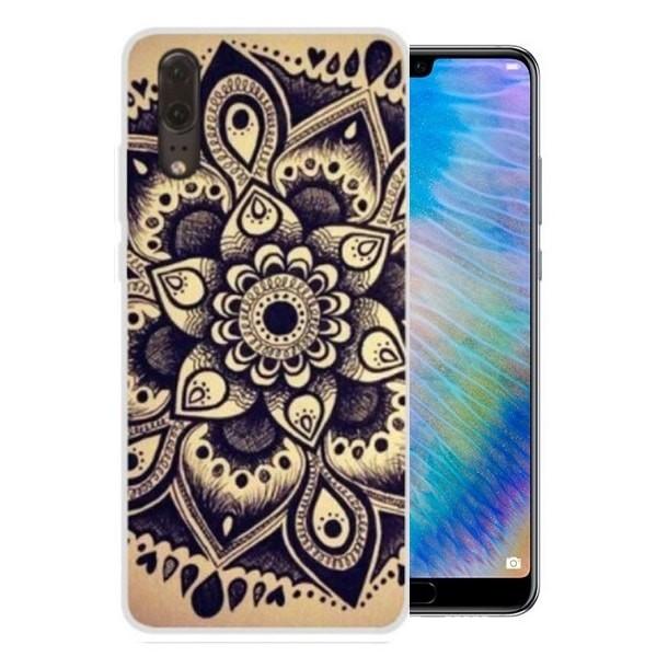 Coque Silicone Huawei P20 Fleur
