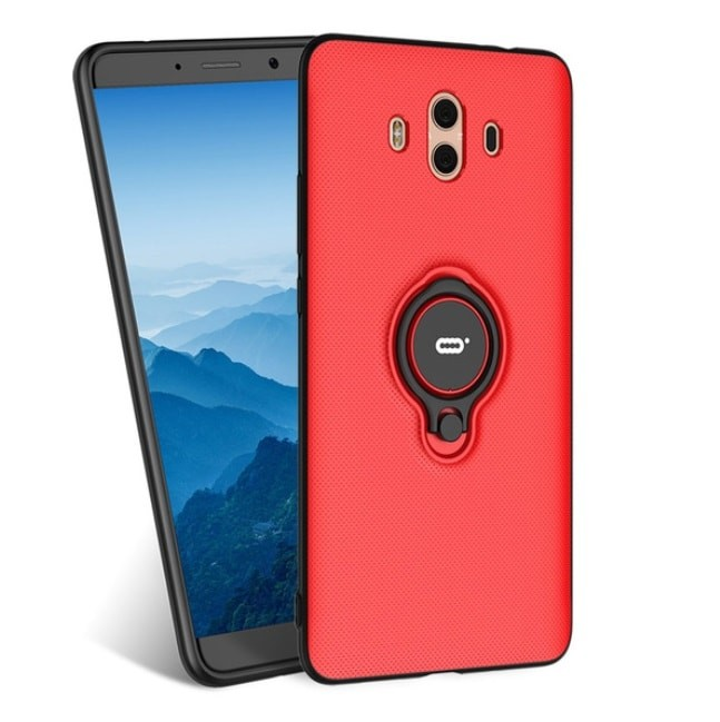 Coque Huawei Mate 10 Hybride Support Anneau Rouge